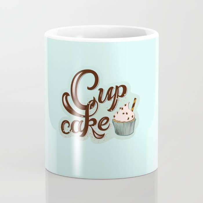 CalliLetters Cupcake Mug