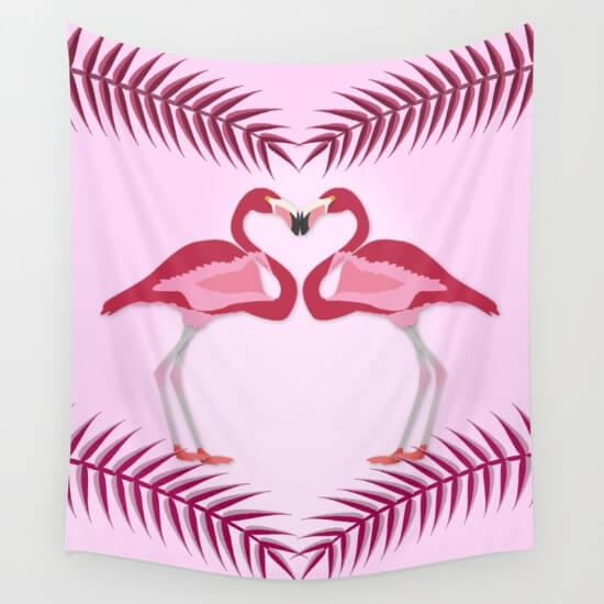 CalliLetters Flamingo Handtuch