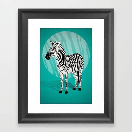 CalliLetters Framed Zebra