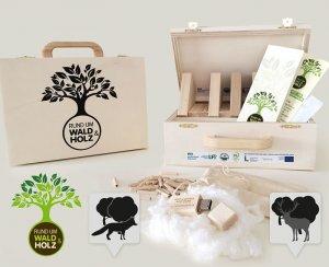 In Zusammenarbeit mit iService.at: Logo, Infografiken, Unterrichtsmaterialien für Schulkoffer für Österreichischen Waldverband