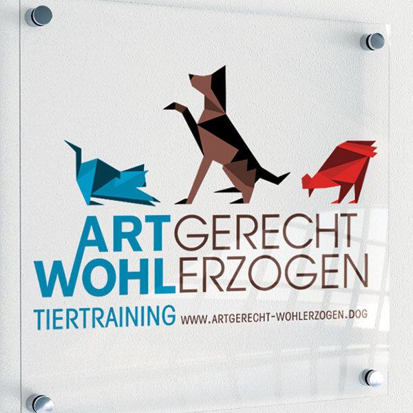 Logodesign für Tiertrainerin von Artgerecht Wohlerzogen