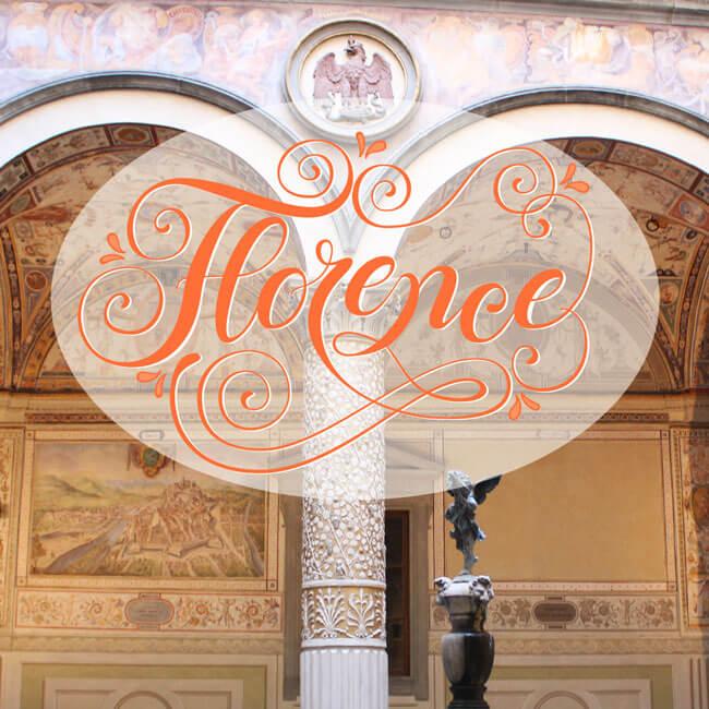 CalliLetters: Handlettering Florence, sehr verspielt
