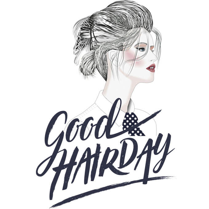 Handlettering + Illustration: Good Hairday
