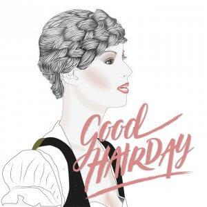 CalliLetters Good Hairday Flechtfrisur Hand Lettering und Illustration