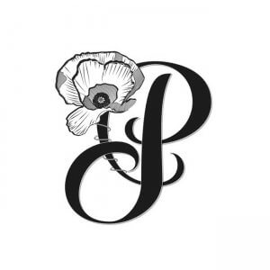 CalliLetters-Handlettering-P-Initiale-Mohnblume