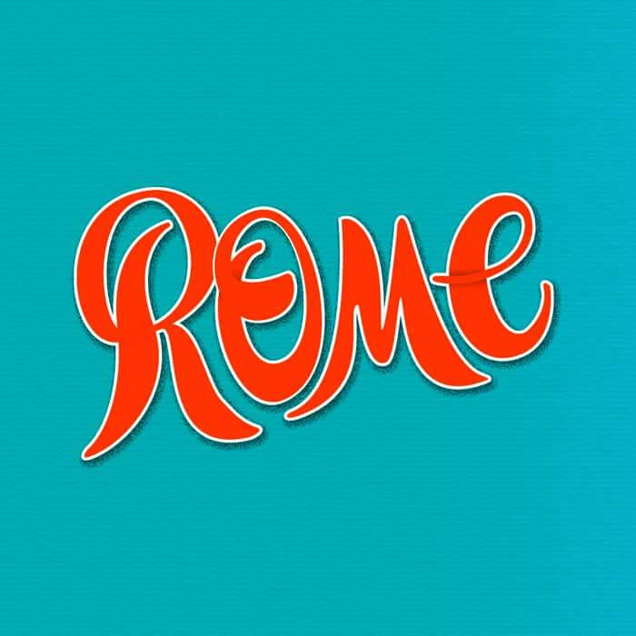 CalliLetters Rome Hand Lettering