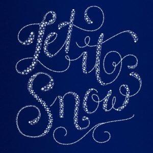 Hand Lettering mit illustrierten Schneeflocken