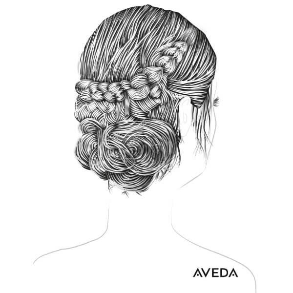 In Zusammenarbeit mit iService.at: Frisur-Illustration für Aveda