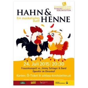 In Zusammenarbeit mit iService.at: Hahn und Henne Illustration + Postergestaltung