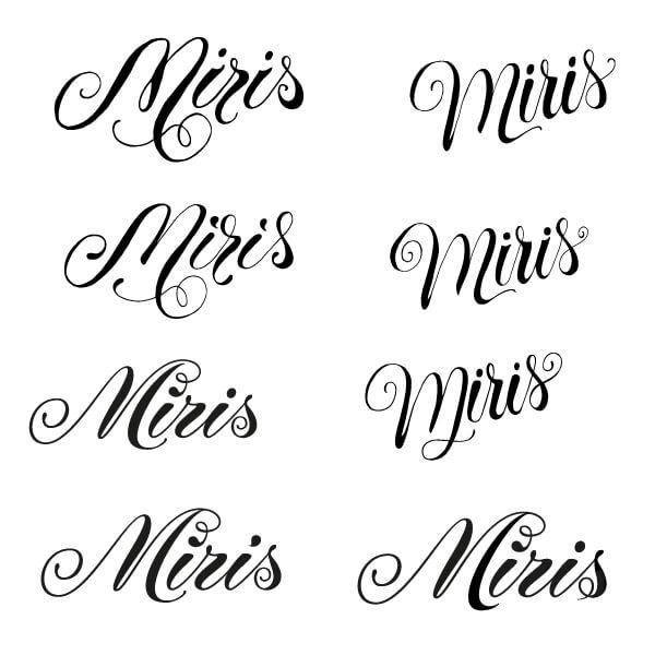 Logo-Entwürfe für Miris Schmuckerei