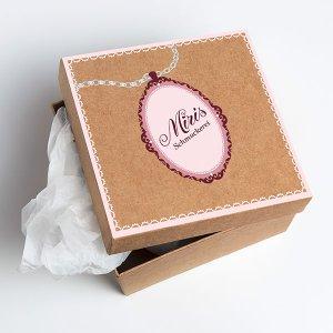 Handlettering: Logo- und Etikettendesign für Miris Schmuckerei