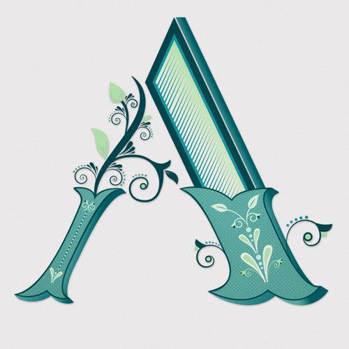 CalliLetters: Lettering Design, Alphabet, Letter A / Lettering Design + Illustration