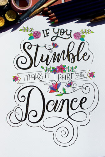 CalliLetters Handlettering, If you stumble ...