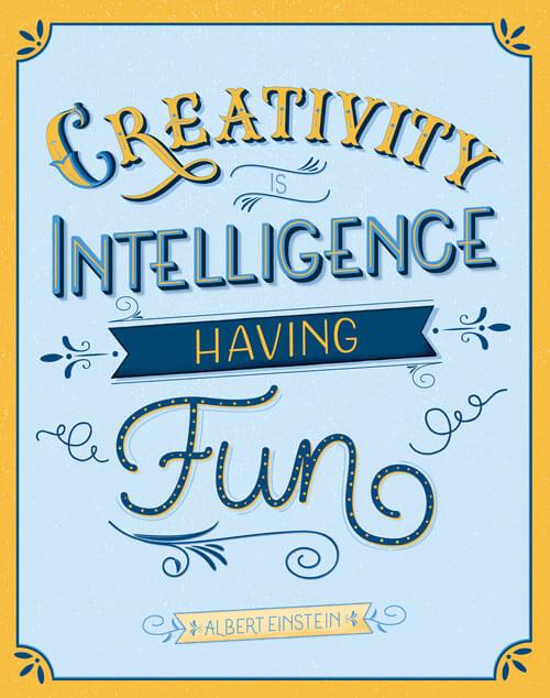 CalliLettersCreativityIsIntelligence