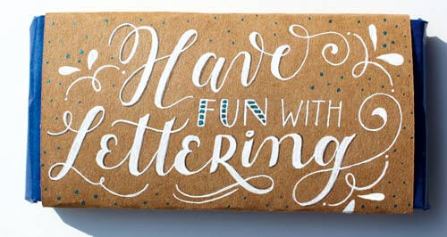 CalliLetters: Have Fun with Lettering, Banderole, Kraftpapier