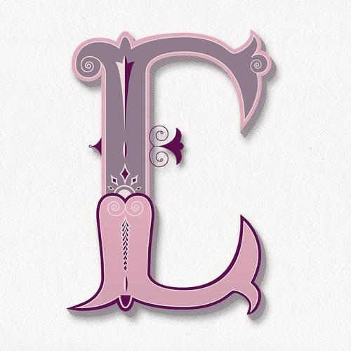 CalliLetters: Lettering Design, Buchstabe E, Handlettering of E, Vintage Letters