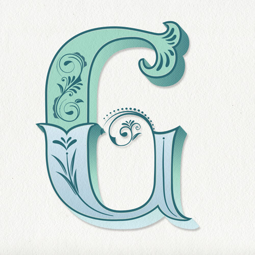 CalliLetters: Lettering Design, Letter G, Vintage Letter / Handlettering