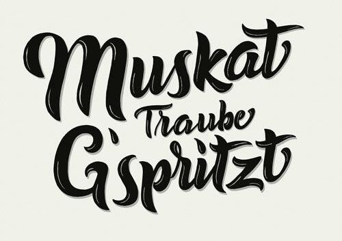 CalliLettersLettering_MuskatTraubeGspritzt