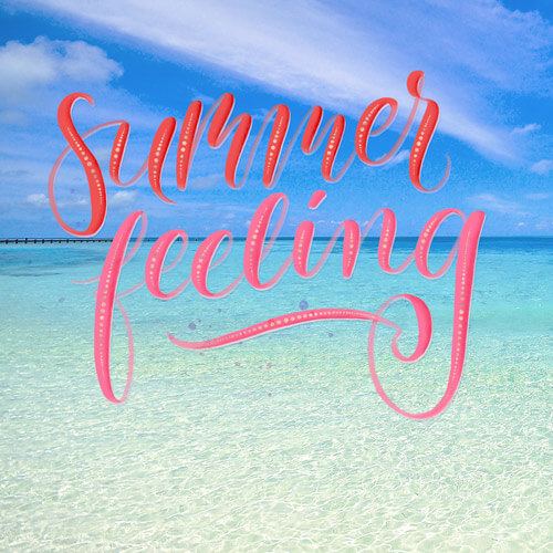 CalliLetters: Brushlettering, Summer Feeling / Foto: unsplash