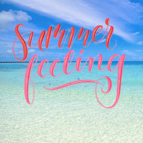 CalliLetters: Brushlettering, Summer Feeling / Foto: unsplash