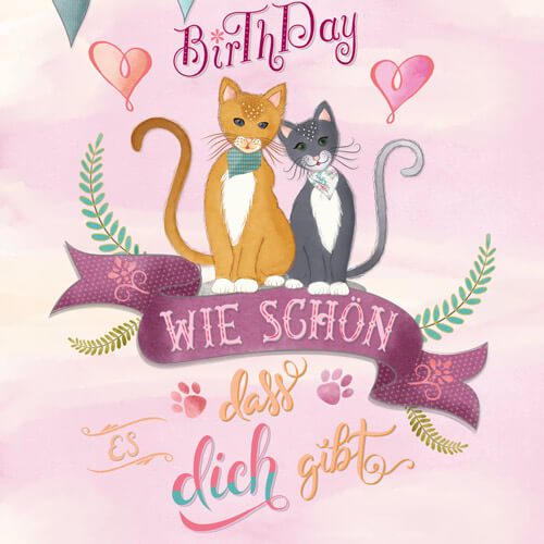 CalliLetters-Illustration-Handlettering-Papeterie-Katzen-Geburtstag