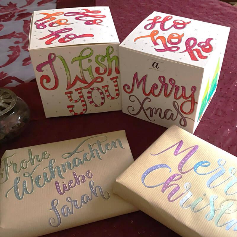 CalliLetters-Handlettering-Geschenkverpackung