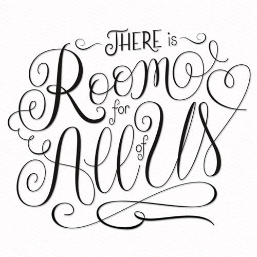 CalliLetters: Script Lettering, Room for all of us