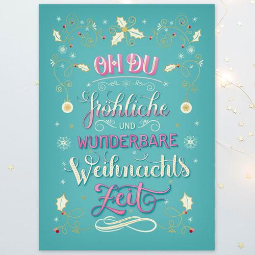 CalliLettersLetteringWeihnachtskarteEditionGollongWien