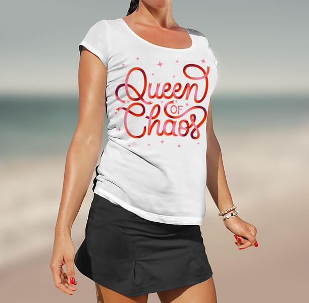 CalliLetters-Handlettering-Branding-Logodesign-Script-T-Shirt-Design-Chaos-Queen