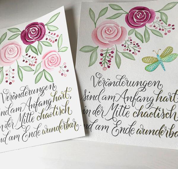 CalliLetters-Handlettering-Brushkalligrafie-ModerneKalligrafie-Aquarell-HandgemaltesBild-Rosen