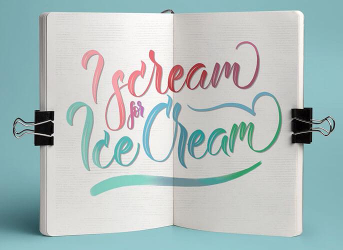 CalliLetters-Handlettering-Kalligrafie-Branding-CorporateIdentity-Typografie-Eiscreme