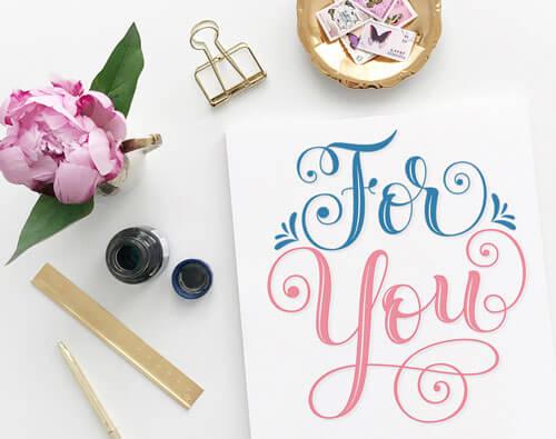 CalliLetters-Handlettering-Grusskarte-Brushkalligrafie-Valentinstag