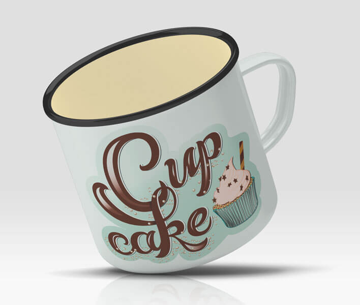 CalliLetters-Handlettering-Illustration-Cupcake-Vintage-Kaffeetasse