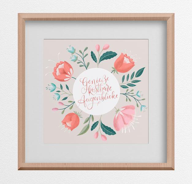 CalliLetters-Handlettering-Brushkalligrafie-Illustration-Floral-Posterdesign