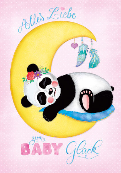 CalliLetters-Handlettering-Illustration-Glueckwunschkarte-Pandabaer-EditionGollong