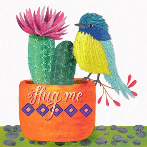 CalliLetters-Handlettering-Illustration-Floral-Kaktus-Vogel