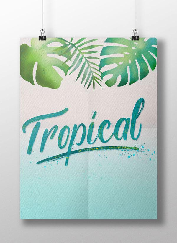 CalliLetters-Handlettering-Illustration-Posterdesign-Schriftdesign-Exotisch-Tropisch