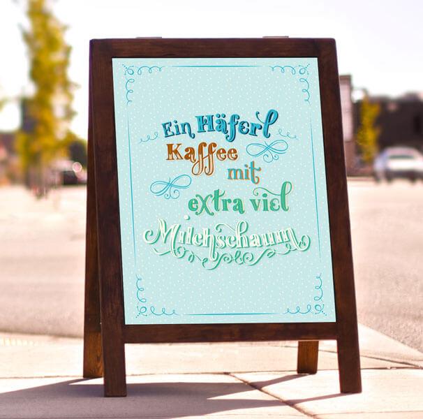 CalliLetters-Handlettering-Illustration-HandgezeichneteSchrift-Schild-Kaffee-Kaffeenaus-Typografie