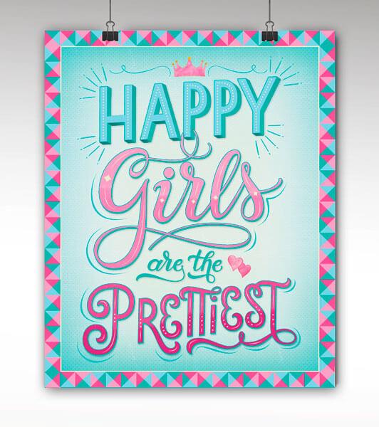 CalliLetters-Handlettering-Posterdesign-HappyGirls-Wien