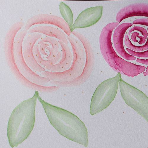 CalliLetters-Kalligrafie-Grusskarte-Gold-Aquarell-Finetec-Hoch-Pigmentiert