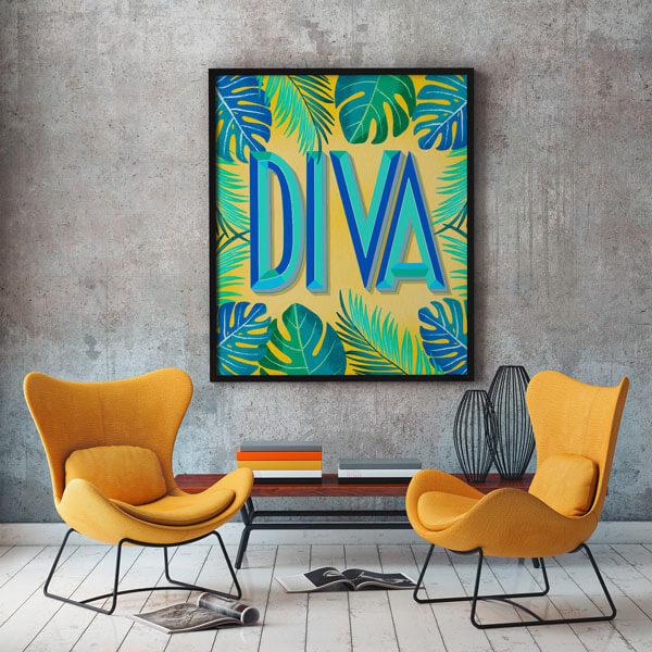 CalliLetters-Lettering-Illustration-Floral-Exotisch-Posterdesign-Wohndeko