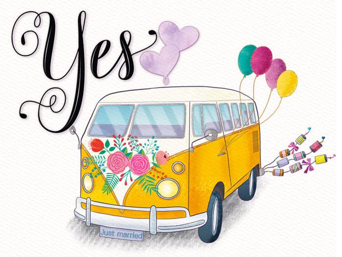 CalliLetters-Handlettering-Illustration-Hochzeit-Bus