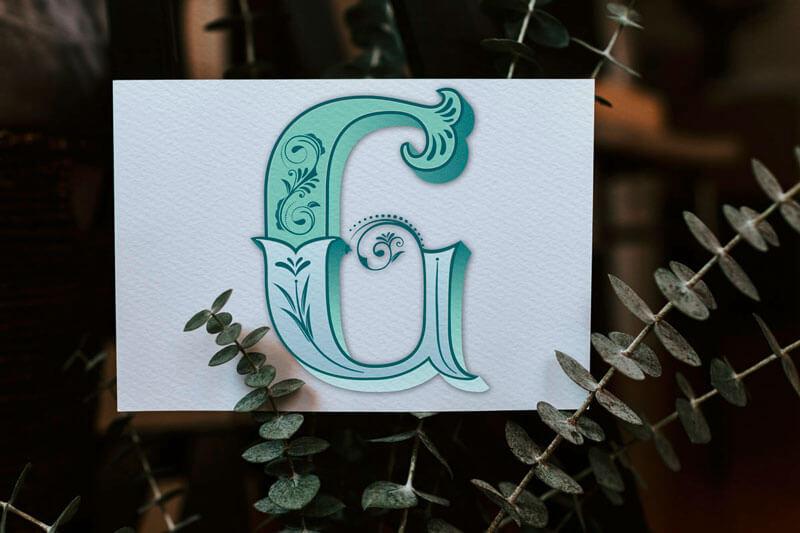 CalliLetters-handgemachteSchrift-Monogramm-Vintage-Initiale-G