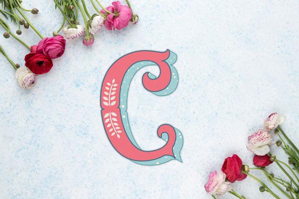 CalliLetters-Handlettering-Logodesign-Illustration-Dekorschrift-Vintage-Initiale-C